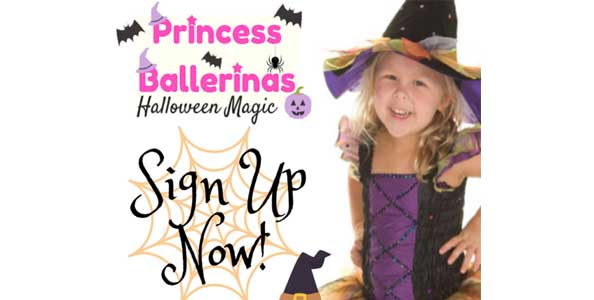 "Join us for our Princess Ballerinas ""Halloween Magic"" Camp!"